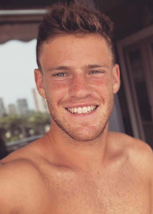 Diego Schwartzman in an Instagram selfie as seen in July 2018