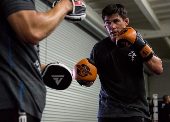Dominick Cruz as seen during a boxing session at Alliance MMA Gym in June 2018