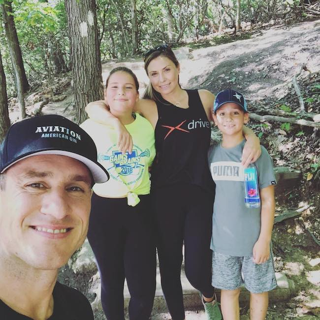 Don Saladino during a hiking session with family at Cold Spring Harbor New York in September 2018