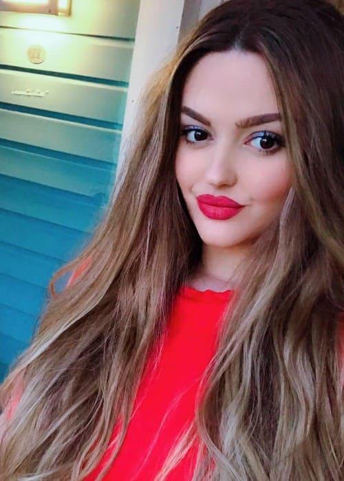 Enca Haxhia in a selfie as seen in April 2018