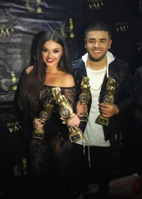 Enca and Noizy at Zhurma Awards in October 2016