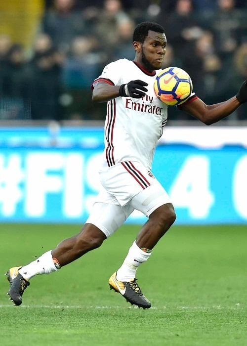Franck Kessié as seen during an away-match in February 2018