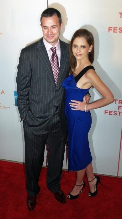 Freddie Prinze Jr. and Sarah Michelle Geller as seen in April 2007