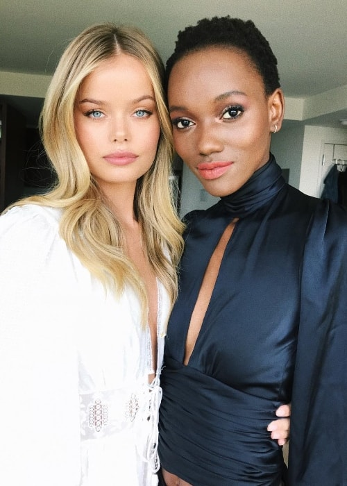 Frida Aasen (Left) with Herieth Paul in New York in May 2018