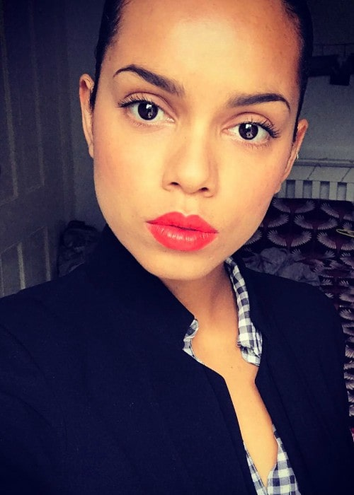 Georgina Campbell in an Instagram selfie as seen in July 2017