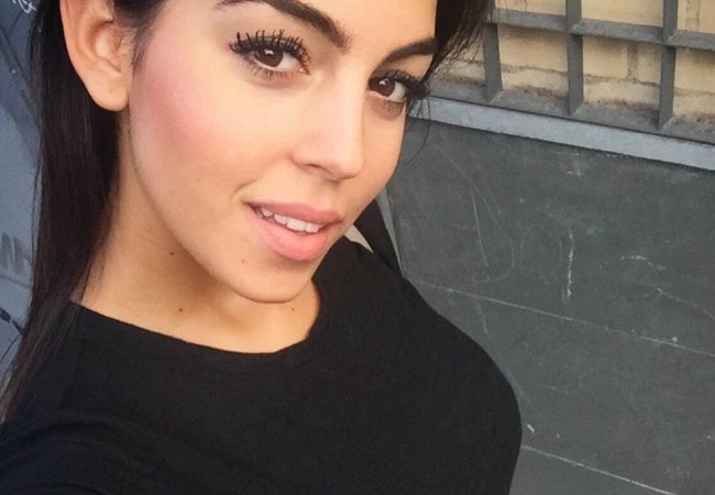 Georgina Rodríguez in an Instagram selfie as seen in October 2016