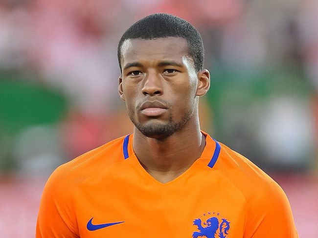 Georginio Wijnaldum during Austria vs Netherlands match in June 2016
