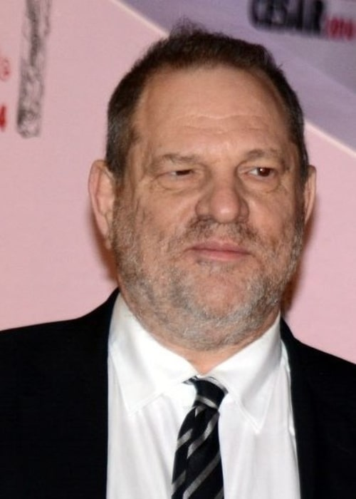 Harvey Weinstein at the César Awards ceremony in Paris in February 2014