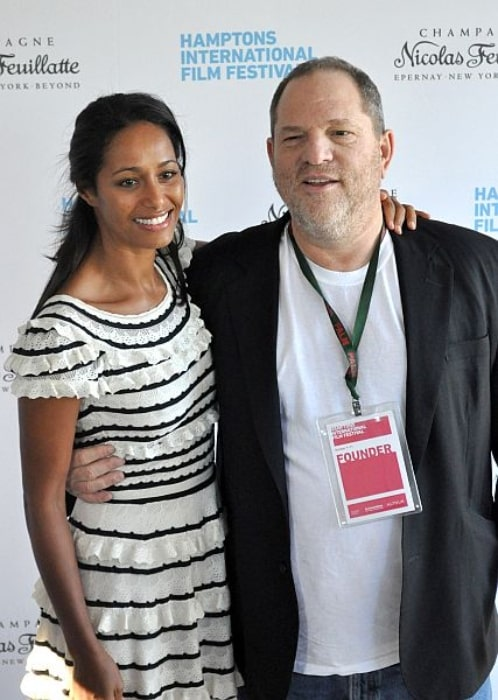 Harvey Weinstein with Rula Jabreal during the 18th Annual Hamptons International Film Festival in October 2010