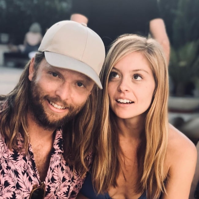 James Valentine with Alexis Novak in 2018