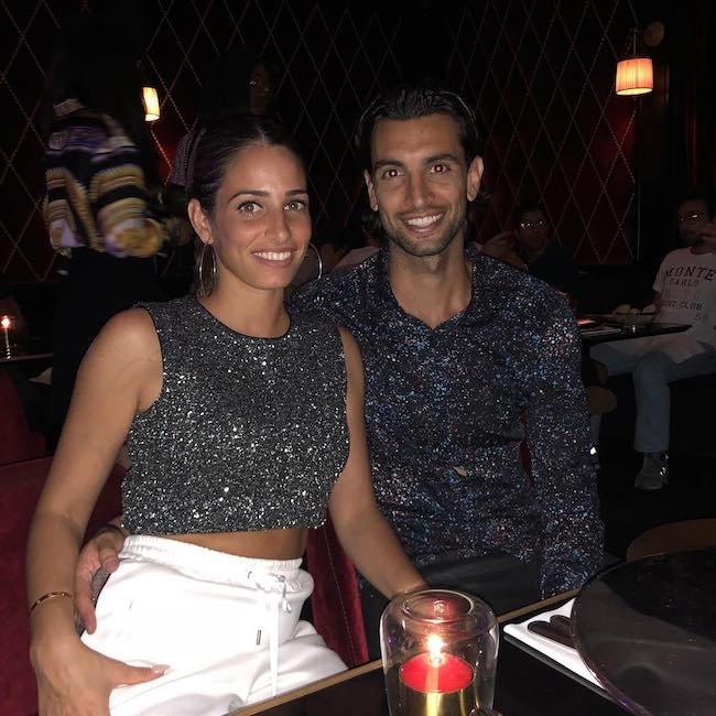 Javier Pastore with wife Chiara Picone in August 2018