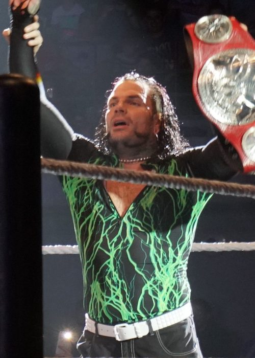 Jeff Hardy as a Raw Tag Team Champion in May 2017