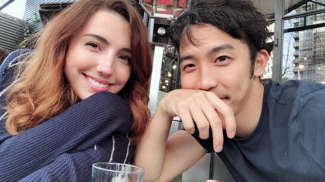 Jimmy Wong with Bree Morgan in July 2018