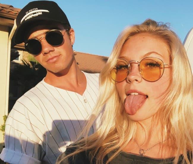 Jordan Beau and Jordyn Jones in a selfie in August 2018