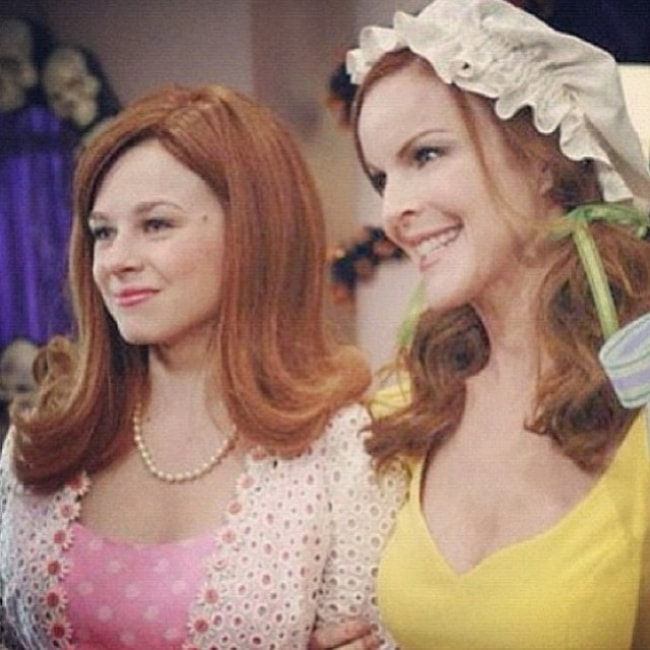 Joy Lauren (Left) in a still from one of her shows