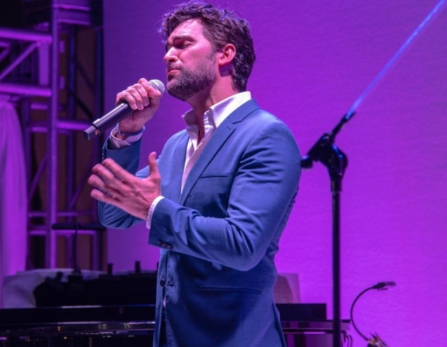 Juan Pablo Di Pace during a performance at the Project Angel Food Awards in Los Angeles, California in August 2018