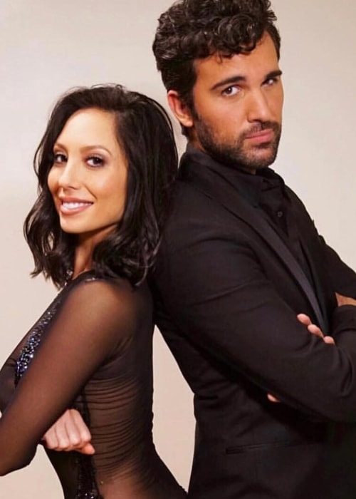 Juan Pablo Di Pace with Cheryl Burke in September 2018