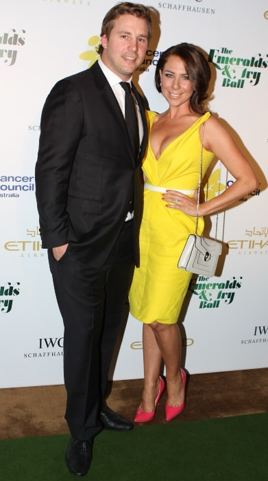 Kate Ritchie pictured with Stuart Webb at The Emeralds & Ivy Ball in Sydney 2012