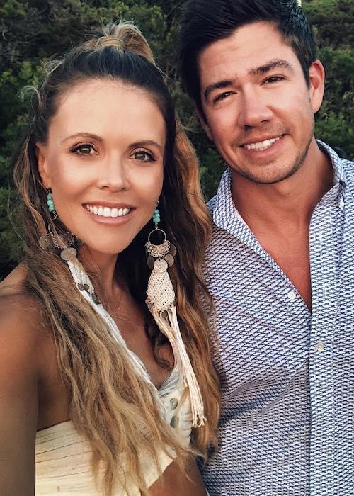 Katrina Scott with husband Brian Scott during a vacation at Capri, Italy in July 2018