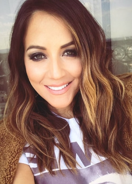 Kay Adams in a selfie in Los Angeles, California in February 2018