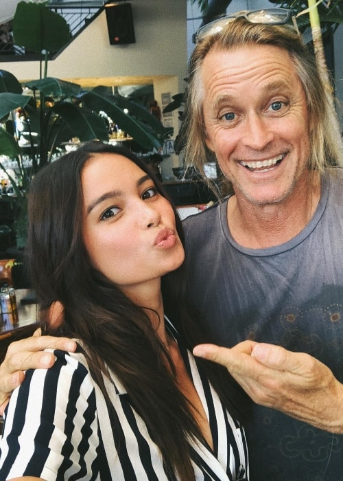 Kelsey Merritt in a selfie with photographer Russell James in June 2018