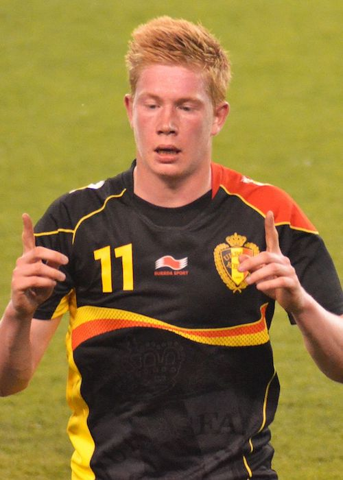 Kevin De Bruyne during a football match in 2013