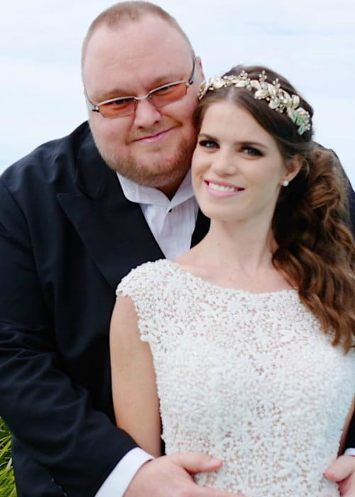 Kim Dotcom and Elizabeth Donnelly as seen in January 2018