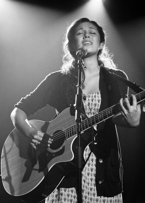 Kina Grannis during a performance in June 2009