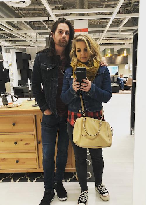 Kirsten Storms with Elias Paul Reidy in January 2018