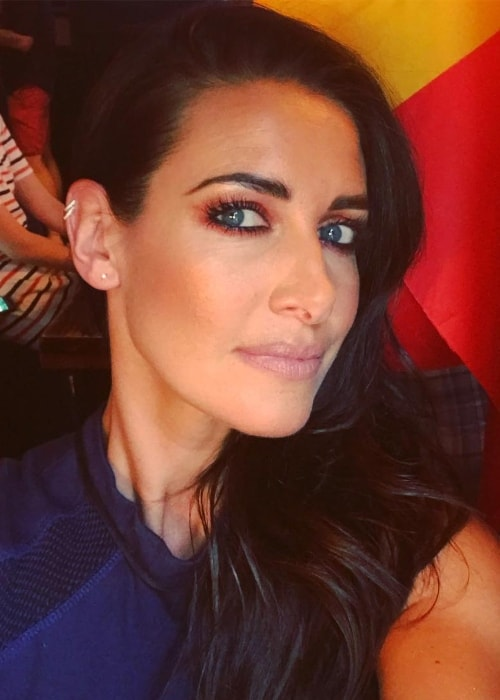 Kirsty Gallacher in a selfie in July 2018
