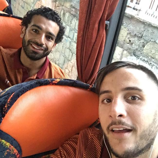 Kostas Manolas in a selfie with a teammate in October 2016