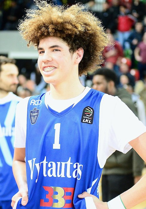 LaMelo Ball during a match of London Lions vs BC Vytautas in 2018