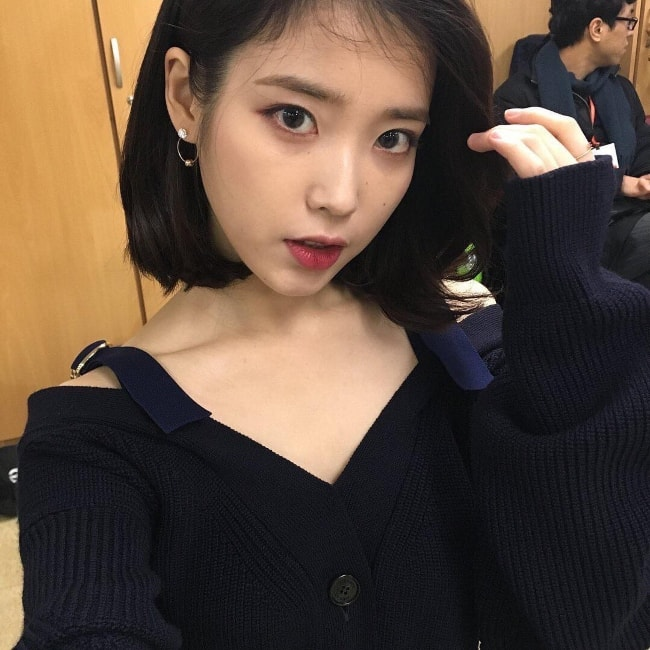 Lee Ji-eun in a selfie in February 2018