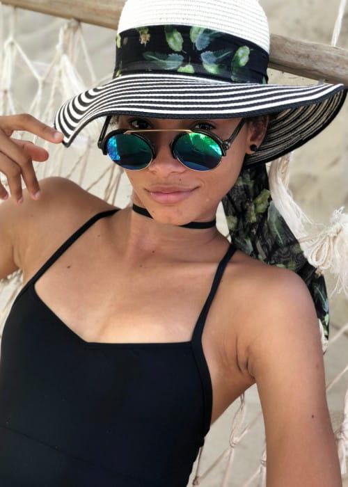 Lineisy Montero in an Instagram selfie as seen in August 2018
