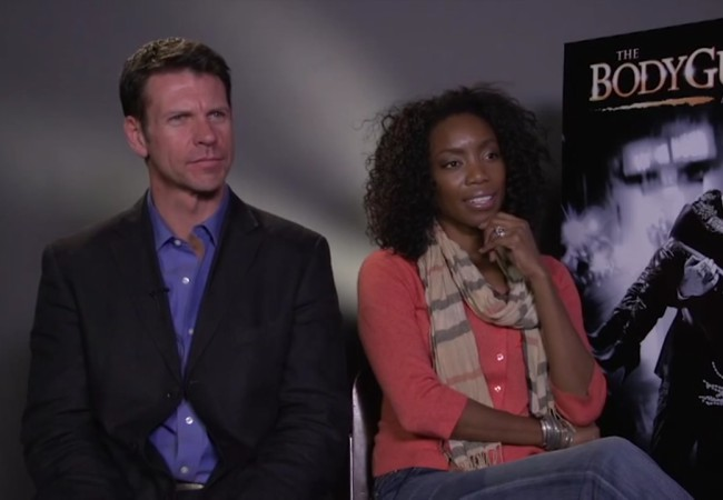 Lloyd Owen and Heather Headley during an interview in 2012