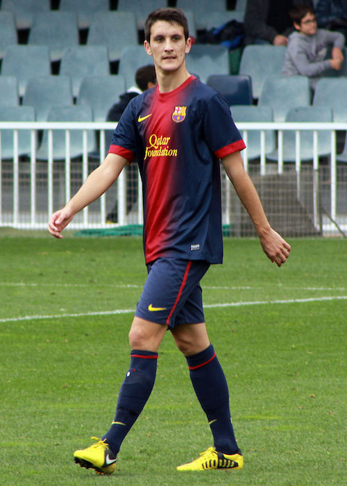 Luis Alberto while playing on the football field in 2012