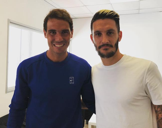 Luis Alberto with Rafael Nadal as seen in May 2018