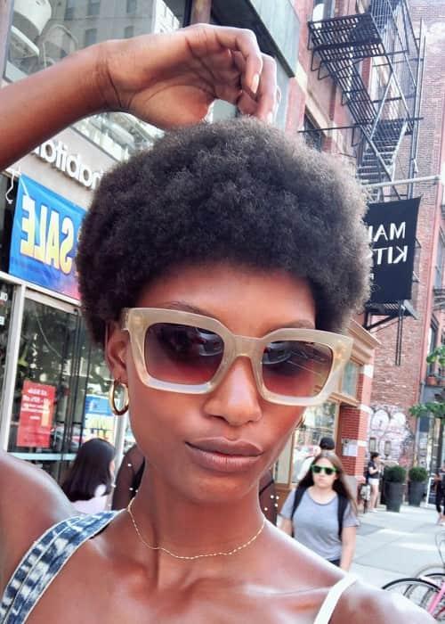 Mame Camara in New York as seen in September 2018
