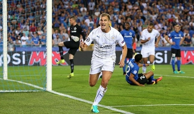 Marc Albrighton as seen during a match