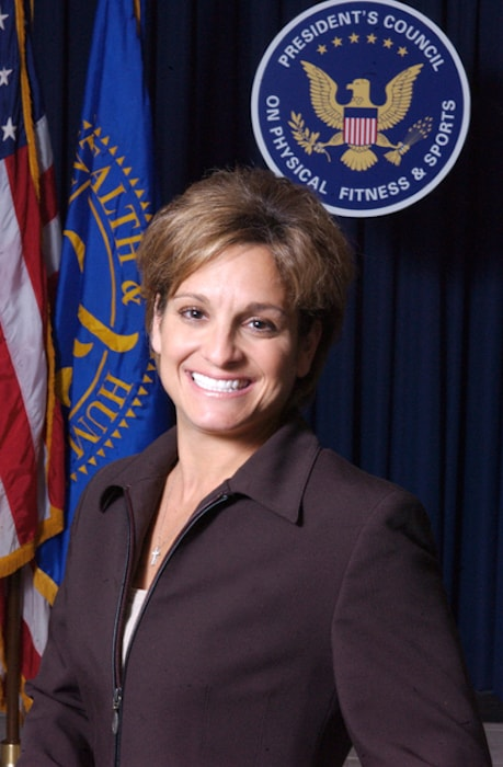 Mary Lou Retton at US Health and Human Services Department in 2004