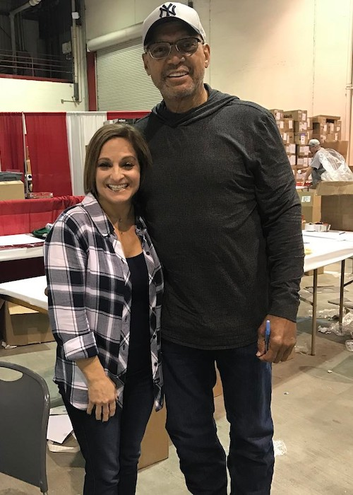 Mary Lou Retton with Reggie Jackson in 2017