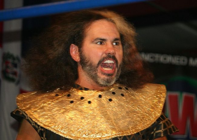 Matt Hardy as his 'Broken' Matt Hardy character at a Carolina Wrestling Federation (CWF) Mid-Atlantic independent show on January 29, 2017
