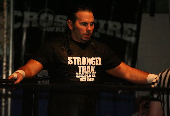 Matt Hardy before his match against MVP in May 2012