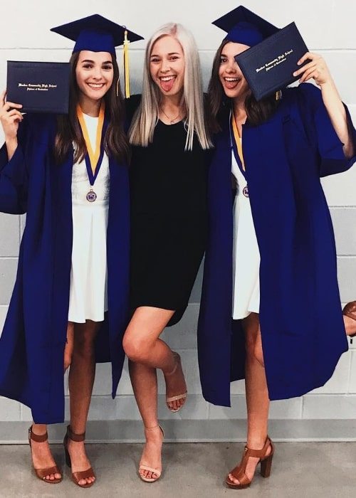 Megan Stitz (Corner Left) as seen on her graduation day in May 2017