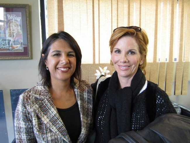 Melissa Gilbert (Right) with Sonia Bekian after a shoot for the Partnership for a Drug Free America in December 2010