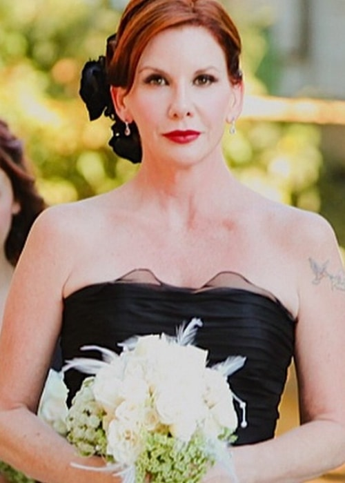 Melissa Gilbert as a bridesmaid at her BFF Sandy Peckinpah's wedding in 2011
