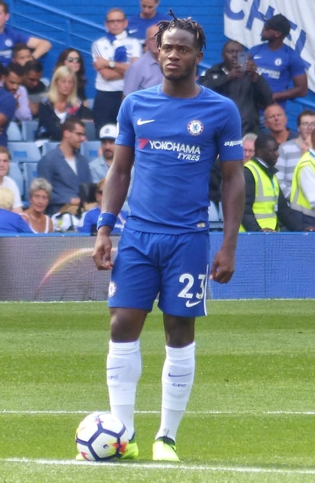 Michy Batshuayi as seen during a Chelsea F.C's match against Burnley at Stamford Bridge in August 2017
