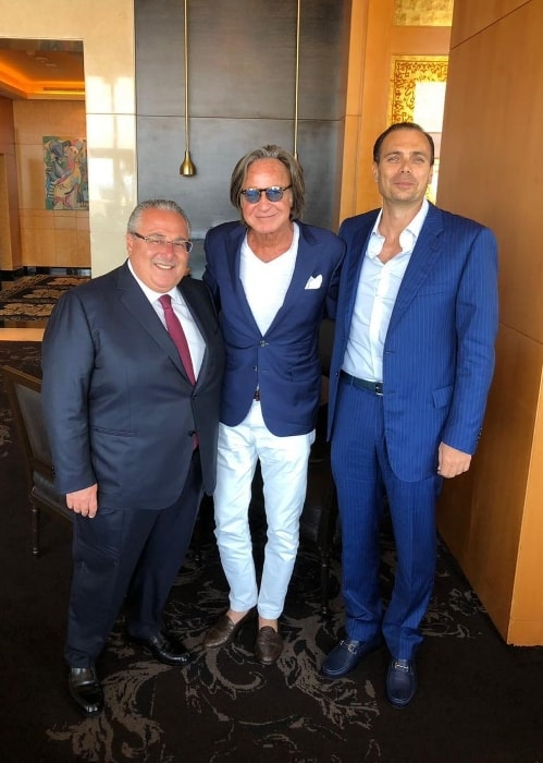 Mohamed Hadid (Center) as seen at Zaitunay Bay in July 2018