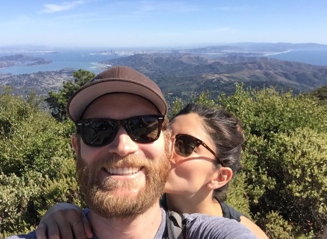 Monica Barbaro with Connor Tillman at Mount Tamalpais State Park in September 2015