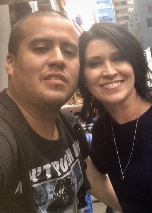 Nancy McKeon and David Perez in a selfie in September 2018